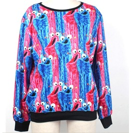 Colorful Eyes Print Unisex Fashion Sweatshirts