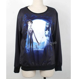 Corpse Bride Print Fashion Unisex Hoodie Sweater