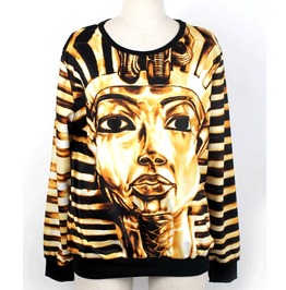 Egyptian Pharaohs Print Fashion Unisex Hoodie Sweater