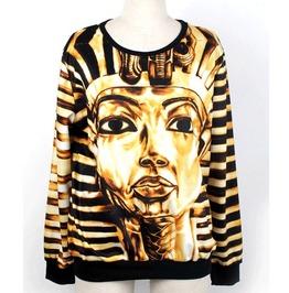 Egyptian Pharaohs Print Fashion Unisex Hoodie Sweater