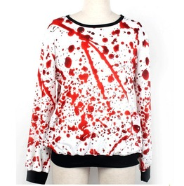 Blood Drop Print Punk Unisex Hoodie Sweater