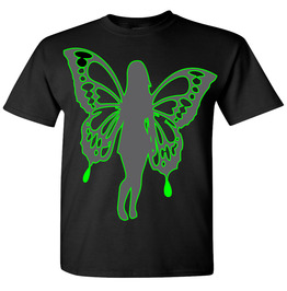 BUTTERFLY T-Shirt # 9040 Neon Green