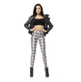 Skull Print Fashion Women Leggings Pants Christmas