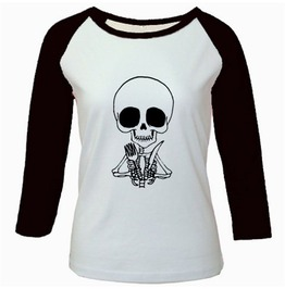 Hungry Skeleton Raglan
