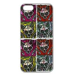 Pop Art Kitty Skull Iphone 5 Case