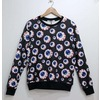 Hipster punk eye print unisex fashion sweater cardigans and sweaters 3
