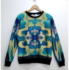 Symmetrical Pattern Print Unisex Fashion Sweater