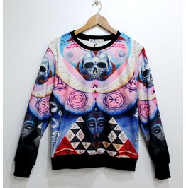 Punk Harajuku Skull Print Unisex Fashion Sweater