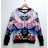 Punk harajuku skull print unisex fashion sweater cardigans and sweaters 4