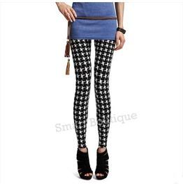 Black White Plaid Pattern Women Leggings Black Friday