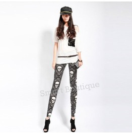 Fashion Skull Print Women Leggings