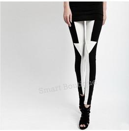 Black White Arrow Pattern Fashion Women Leggings