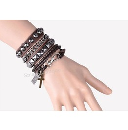 Gothic Jewelry Punk Women Men Wristband Bracelet Chain