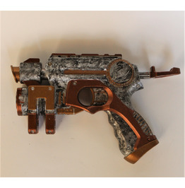 "WORKING Nerf Steampunk Gun LIGHT UP Red ""Laser"" Light Weapon - Shoots Darts"