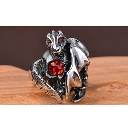 Steampunk Rock Men Retro Skull Ring Jewelry Christmas