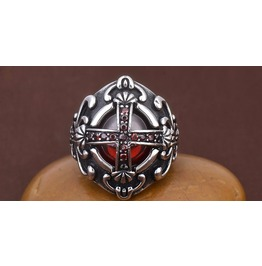 Gothic Cross Men Retro Jewelry Ring