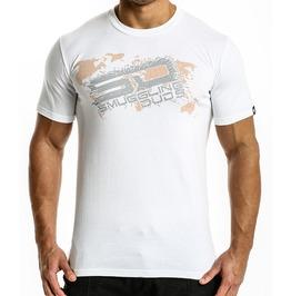 Shattered Sd T Shirt White/Grey Logo