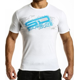 Shattered Sd T Shirt White/Blue Logo