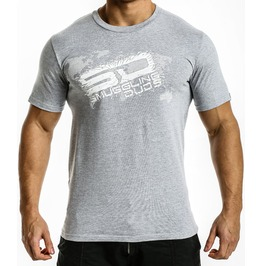 Shattered Sd T Shirt Grey/White Logo