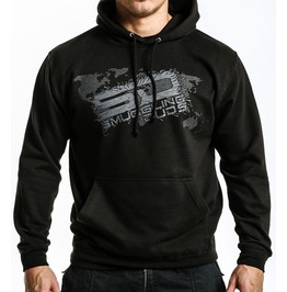 Shattered Sd Hoodie Black/Grey Logo