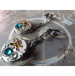 Steampunk Watch Movement Earrings Steampunk Jewelry
