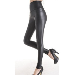 Womens Wet Look (Black) Leggings