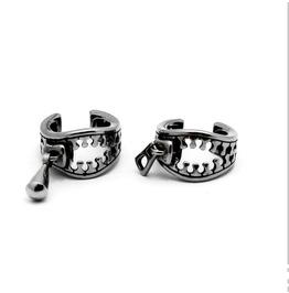 Punk No Pierced Ear Buckle Titanium Steel Casting Zipper Buckle Ear Clip