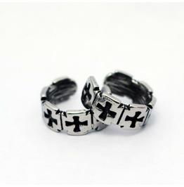 Punk Titanium Steel Cast Cross Earrings Men / Women Cross Earrings