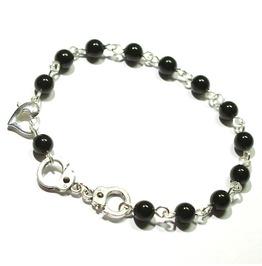 Black Pearl Handcuff Bracelet