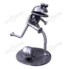 Hand Made Frog Playing Soccer Figurine