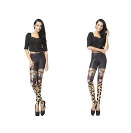 Two Tigers Print Fashion Women Leggings Pants Christmas