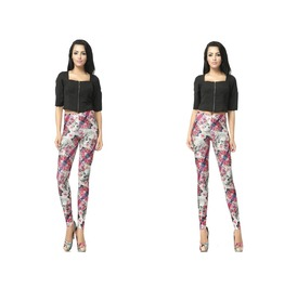 Punk Style Skull Print Fashion Women Leggings Pants