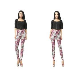 Punk Style Skull Print Fashion Women Leggings Pants