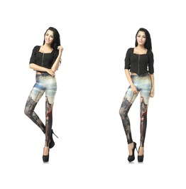 Unique Pattern Print Women Fashion Leggings Christmas