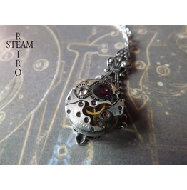 Steampunk Victorian Amethyst Pendant Necklace Steampunk Jewelry Steamretro