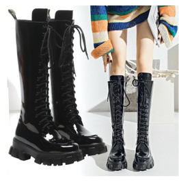 Lace up Gothic Black Water Proof Platform Boots