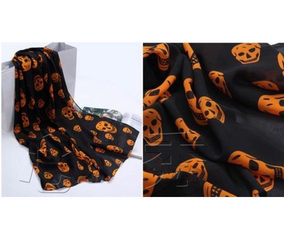 black_orange_chiffon_scarf_with_skull_print_scarves_3.JPG