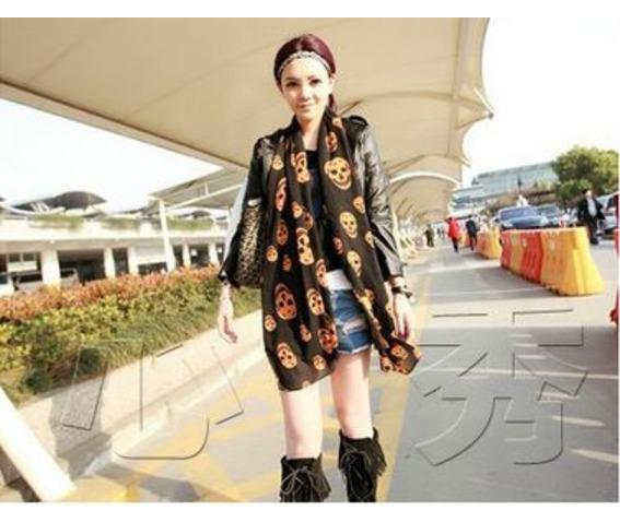 black_orange_chiffon_scarf_with_skull_print_scarves_2.JPG