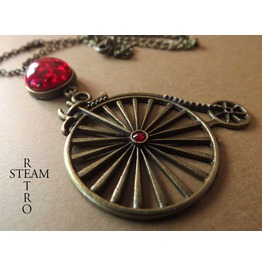 Penny Farthing Vintage Steampunk Necklace Steampunk Jewelry Steamretro