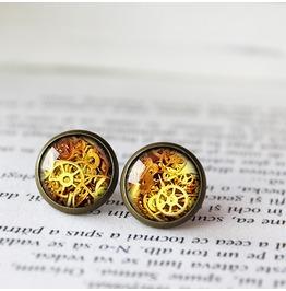Mismatch Steampunk Earrings