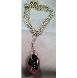 Pink Agate Onyx Necklace