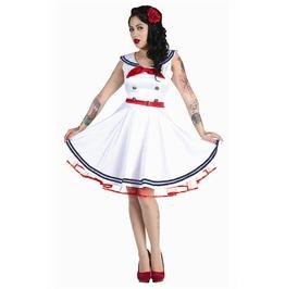 Voodoo Vixen White Hello Sailor Nautical Dress