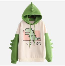 Cute Green Dinosaur Hoodie