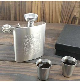 Jack Daniel's Print Stainless Steel Whisky Flask