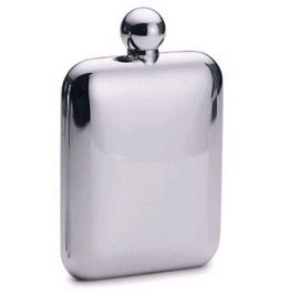 Smooth Rounded Edges Stainless Steel Hip Flask