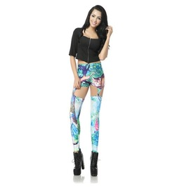 Sexy Hollow Cute Print Women Fashion Leggings