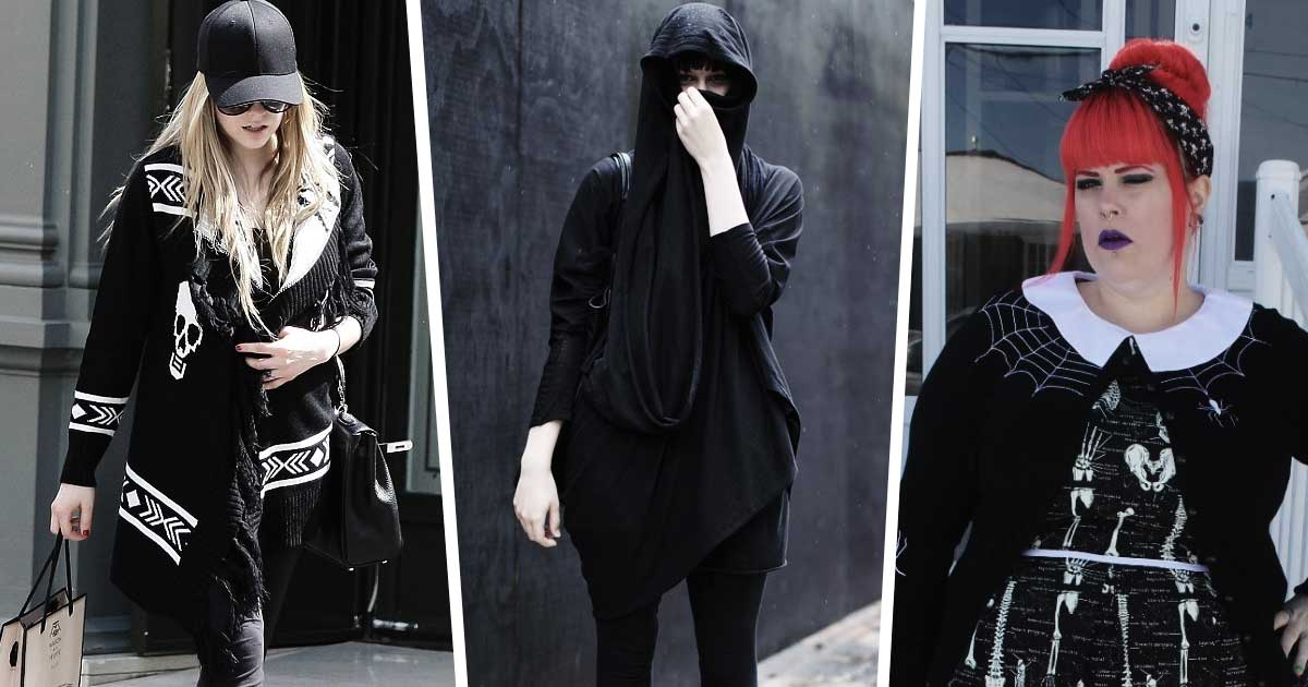 Why you need a cardigan and how to style it in a goth fashion