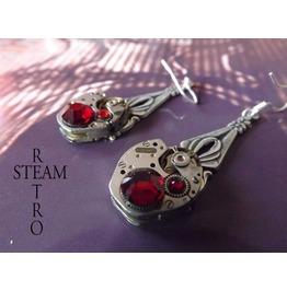 Steampunk Siam Earrings Steampunk Jewelry Steamretro