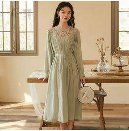 Embroidered Cotton Vintage Helburn LFMY 4567 Dresses