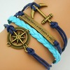 Retro style rope bracelet different themes diy bracelets and wristbands 2